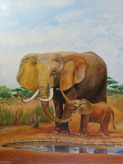mayday elefanten gem lde mayday elefanten. Black Bedroom Furniture Sets. Home Design Ideas