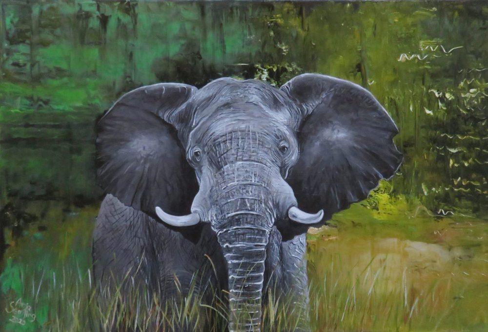 Elefanten-Gemälde