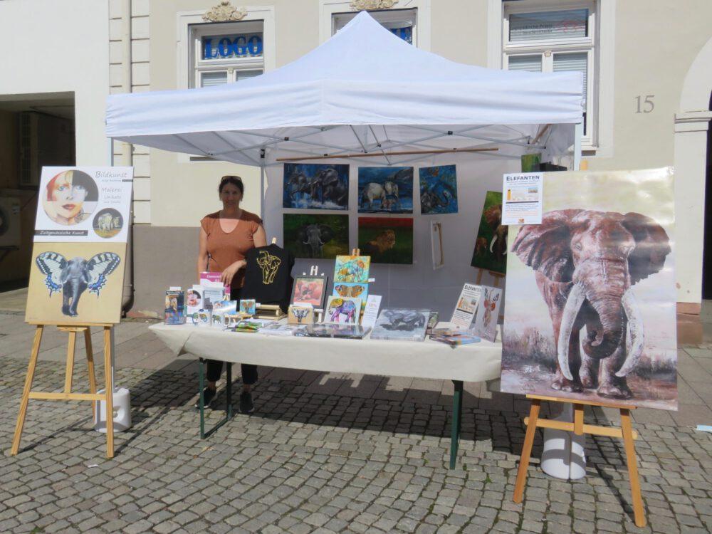 Mein Stand auf dem Künstlermarkt in Emmendingen